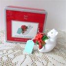 Son 2010 Carlton Personalized Christmas Ornament Flocked Bear Cub