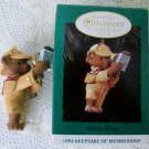 Hallmark Holiday Pursuit Collectors Club Ornament 1994 Detective Bear