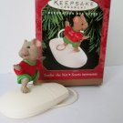 1999 Surfin the Net Hallmark Christmas Ornament Computer Mouse