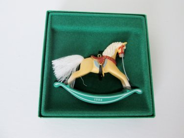 Rocking Horse Series Palomino Sixth in Series 1986 Hallmark Christmas Ornament