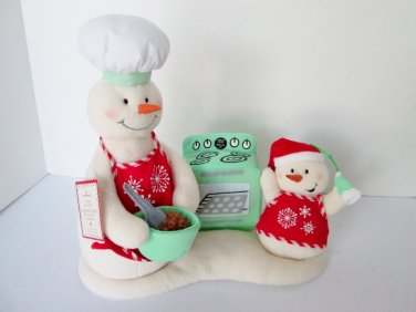 Hallmark Animated Snowman Musical Snow Chefs 2008 Baking Plush