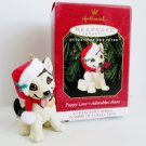 1999 Puppy Love Ninth in Series Hallmark Ornament Shepherd Pup