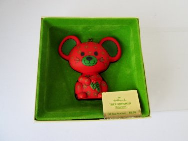 1978 Calico Mouse Tree Trimmers Collection Hallmark Christmas Ornament