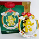 Baby's First Christmas 2005 Care Bears ornament by Carlton Yellow Bear