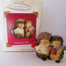 Hallmark 2003 Stuck on You, Couple Exchanging Gifts, Christmas Together Ornament Animals