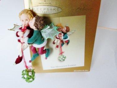 The Mistletoe Fairies, Club Exclusive 2003 Hallmark Ornament Boy Girl Faeries