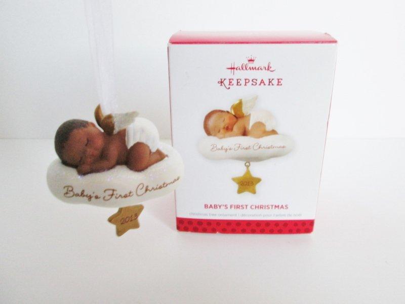 babys first christmas 2013 african american baby angel on cloud by hallmark keepsake