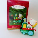 Peppermint Express 2001 Child Age Baby's First Christmas Hallmark Ornament