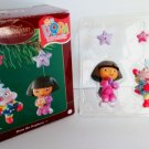 Dora the Explorer Nick Jr Carlton Ornament 2003 Catch a Star with Dora and best friend Boots