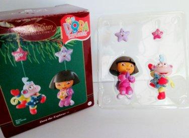 Dora the Explorer Nick Jr Carlton Ornament 2003 Catch a Star with Dora and best friend Boots