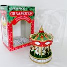 Noma Christmas Carousel Merry Go Round Ornamotion Red Box Rotating with Motor