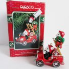 Festive Firemen by Enesco North Pole Fire Dept Series Firetruck Christmas Ornament 1993