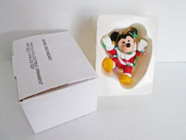 Grolier Mickey Mouse Disney Christmas Ornament 001905 DCO Santa tangled in lights