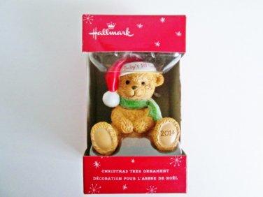 Baby's First Christmas 2014 Teddy Bear Hallmark Xmas Ornament for Babies First Christmas