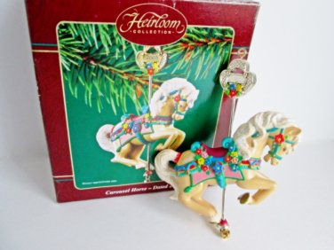 Carousel Horse 14th in Series Carlton Christmas Ornament 2003 Merry Go Round Pony