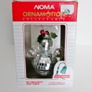 Noma Ornamotion Christmas Mirrored Snowman Rotating Ornament with Motor, Holly