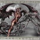 Tattoo Johnny Licensed Angel Of Death Chopper Rhinestone Belt Buckle