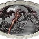 Tattoo Johnny Angel Of Death Chopper Oval Chain Belt Buckle