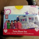 One Direction 1D Twin/Single Size  4 Piece Comforter & Sheet Set