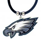 Philadelphia Eagles Black Rubber Cord Necklace