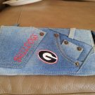 Georgia Bulldogs Ladies Denim Blue Jean Wallet