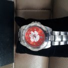 Clemson Tigers Men's Sport Anochrome Stainless Steel Band Watch