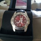 Alabama Crimson Tide AnoChrome Leather Band Sports Watch