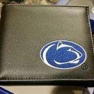 Penn State Nittany Lions Mens Black Leather Bi-fold Wallet