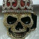 Hip Hop Style Skull King Belt Buckle