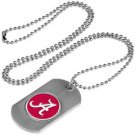 Alabama Crimson Tide Dog Tag with a embedded collegiate medallion