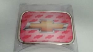 Chevy Logo Pink Officialy Licensed Belt Buckle