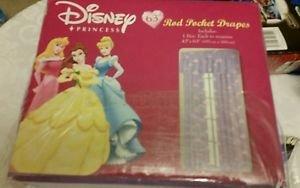 "Disney Princess 63"" Rod Pocket Drapes"