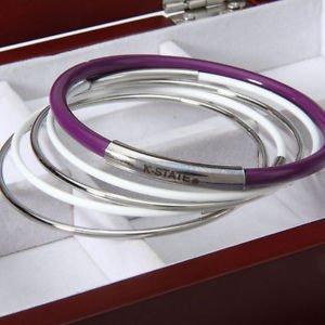 Kansas State Wildcats Five Multi Layered Bangle Bracelet Set