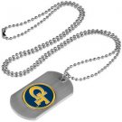 Georgia Tech Yellow Jackets Dog Tag with a embedded collegiate medallion