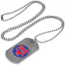 SMU Southern Methodist Mustangs Dog Tag with a embedded collegiate medallion