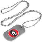 Georgia Bulldogs Dog Tag with a embedded collegiate medallion