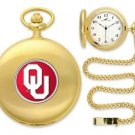Oklahoma Sooners Officially Licensed Gold Pocket Watch