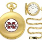 Mississippi State Bulldogs Officially Licensed Gold Pocket Watch