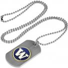 Washington Huskies Dog Tag with a embedded collegiate medallion