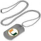 Miami Hurricanes Dog Tag with a embedded collegiate medallion