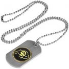 Colorado Buffaloes Dog Tag with a embedded collegiate medallion