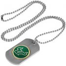 USF South Florida Bulls Dog Tag with a embedded collegiate medallion