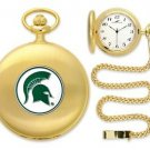 Michigan Spartans Officially Licensed Gold Pocket Watch