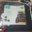 Room Essentials XL Alphabet Twin Reversible 5 Piece Lim. Edit. Dorm Bedding Set