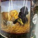 Lab Pups Puppies Dogs American Heritage Woodland Plush Raschel Throw blanket