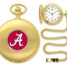 Alabama Crimson Tide Officially Licensed Gold Pocket Watch