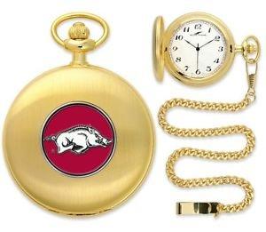 Arkansas Razorbacks Officially Licensed Gold Pocket Watch