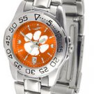 Clemson Tigers Womens Ladies Steel Sport AnoChrome Watch