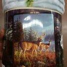 Deer in the Wild American Heritage Woodland Royal Plush Raschel Throw blanket