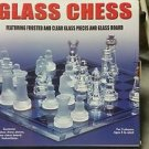 Glass Chess Set Frosted and Clear